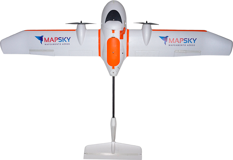 Aeronave VANT MapSky BR2 Frente